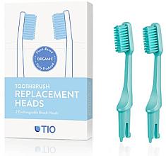 Düfte, Parfümerie und Kosmetik Austauschbare Zahnbürstenköpfe mittel türkis 2 St. - TIO Toothbrush Medium