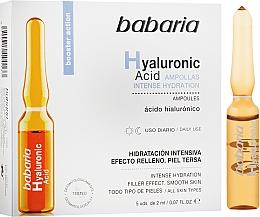 Düfte, Parfümerie und Kosmetik Feuchtigkeitsspendende Gesichtsampullen mit Hyaluronsäure - Babaria Hyaluronic Acid Ampoule