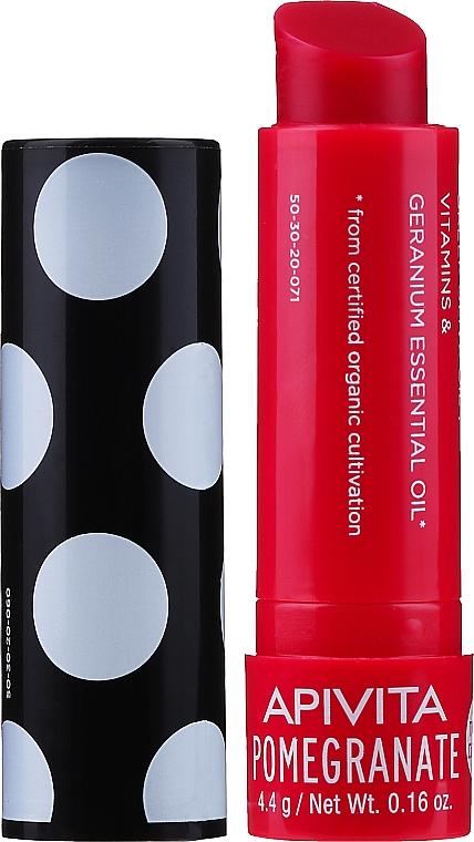Feuchtigkeitsspendender Lippenbalsam mit Bio Granatapfelöl - Apivita Ruby Lips Limited Edition 40 Years Lip Care Pomegranate