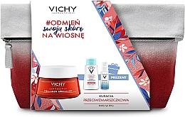 Düfte, Parfümerie und Kosmetik Gesichtspflegeset - Vichy Liftactiv (Gesichtsserum 10ml + Mizellenwasser 100ml + Gesichtscreme 50ml + Kosmetiktasche)