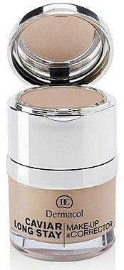 Langanhaltende Foundation und Concealer - Dermacol Caviar Long Stay Make-Up & Corrector