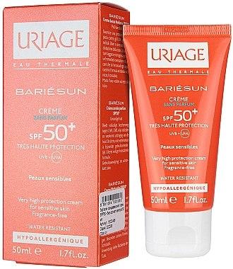 Wasserfeste Sonnenschutzcreme für empfindliche Haut SPF 50+ Parfümfrei - Uriage Suncare product Fragrance Free — Bild N1