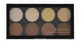 Düfte, Parfümerie und Kosmetik 8in1 Konturpalette für das Gesicht - Makeup Revolution Iconic Lights & Contour Pro