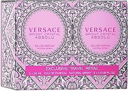 Düfte, Parfümerie und Kosmetik Versace Bright Crystal Absolu - Duftset (Eau de Parfum/2x30ml)