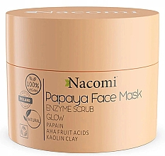 Düfte, Parfümerie und Kosmetik Maske-Peeling für das Gesicht mit weißem Ton - Nacomi Papaya Face Mask Enzyme Scrub