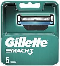 Düfte, Parfümerie und Kosmetik Ersatzbare Rasierklingen 5 St. - Gillette Mach3