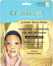 Düfte, Parfümerie und Kosmetik Anti-Aging Gesichtsmaske mit Arganöl - Clinians Hydrogel Mask With Argan Oil And Golden Powder