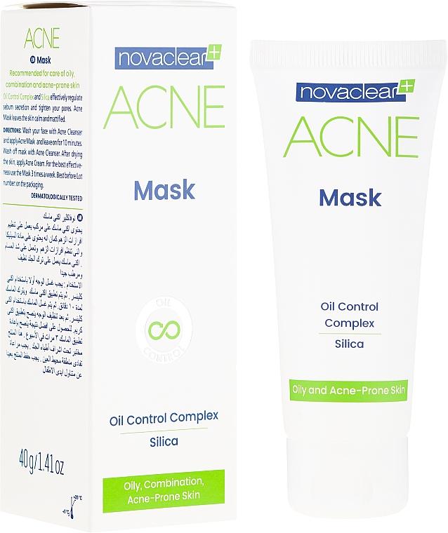 Mattierende Gesichtsmaske mit Kieselsäure für fettige und zu Akne neigende Haut - Novaclear Acne Mask