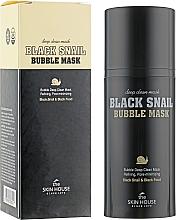 Düfte, Parfümerie und Kosmetik Sauerstoffmaske für das Gesicht mit Schneckenschleim und Aktivkohle - The Skin House Black Snail Bubble Mask
