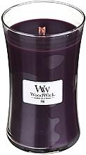 Düfte, Parfümerie und Kosmetik Duftkerze im Glas Fig - WoodWick Hourglass Candle Fig