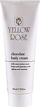 Düfte, Parfümerie und Kosmetik Glättende und straffende Körpercreme mit natürlichen Extrakten aus Kakao und Grapefruit - Yellow Rose Chocolate Body Cream