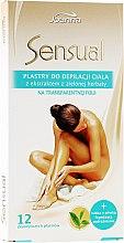 Düfte, Parfümerie und Kosmetik Enthaarungswachsstreifen mit Grüntee-Extrakt für das Gesicht - Joanna Sensual Body Hair Removal Strips With Green Tea Extract