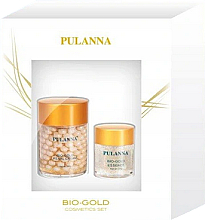 Düfte, Parfümerie und Kosmetik Gesichtspflegeset - Pulanna Bio-Gold (Gesichtscreme 60g + Augengel 21g)