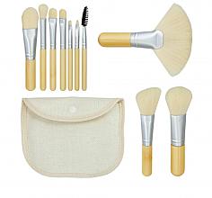 Düfte, Parfümerie und Kosmetik Make-up Pinselset Bamboo White 10 St. + Etui - Tools For Beauty