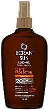 Düfte, Parfümerie und Kosmetik Sonnenschutzöl-Spray für den Körper SPF 20 - Ecran Sun Lemonoil Oil Spray SPF20