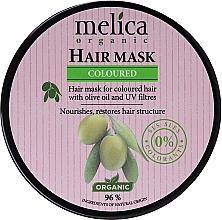 Düfte, Parfümerie und Kosmetik Nährende regenerierende und strukturierende Maske mit Olivenöl und UV-Filter für gefärbtes Haar - Melica Organic Coloured Olive Oil UV Filters Hair Mask