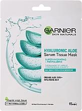 Düfte, Parfümerie und Kosmetik Feuchtigkeitsspendende und revitalisierende Tuchmaske mit Aloe und Hyaluronsäure - Garnier Skin Naturals Hyaluronic Aloe Tissue Mask