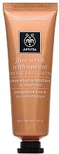 Düfte, Parfümerie und Kosmetik Sanftes Gesichtspeeling mit Aprikose - Apivita Face Scrub With Apricot