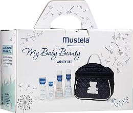 Düfte, Parfümerie und Kosmetik Haar- und Körperpflegeset für Babys - Mustela My Baby Beauty Vanity Set (Shampoo 200ml + Badeschaum 200ml + Gesichtscreme 40ml + Kosmetiktasche)