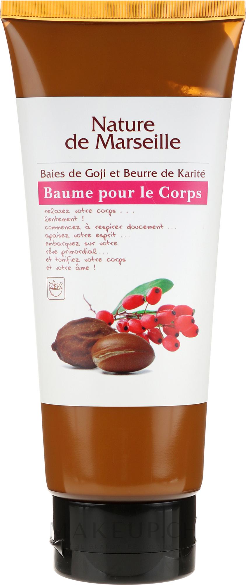 Körperbalsam mit Sheabutter und Goji-Beere - Nature de Marseille — Bild 200 ml