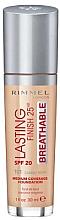 Düfte, Parfümerie und Kosmetik Foundation - Rimmel Lasting Finish 25HR Breathable Foundation SPF 20