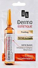 Düfte, Parfümerie und Kosmetik 2-stufige Gesichtspflege mit Vitamin C - AA Dermo Estetique (Gesichtspeeling 5ml + Gesichtsserum 5ml)