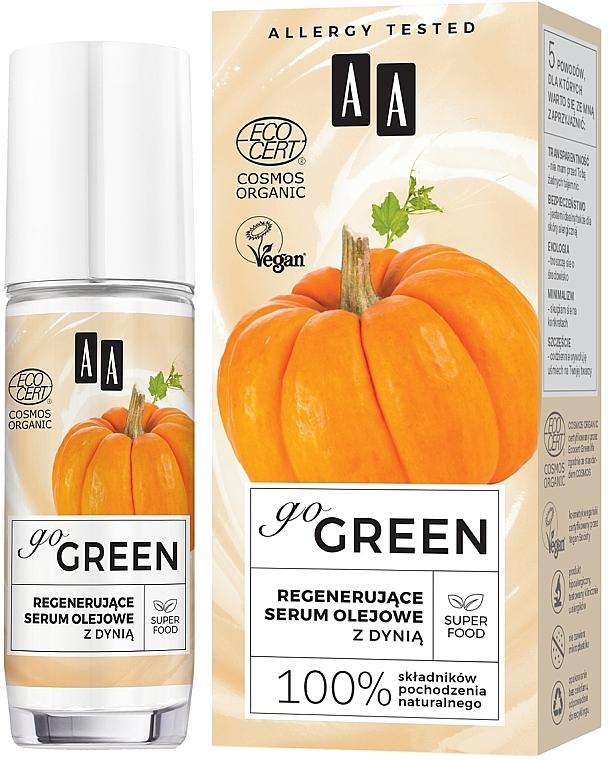 Regenerierendes Ölserum für das Gesicht mit Kürbis - AA Go Green