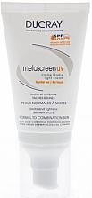 Düfte, Parfümerie und Kosmetik Leichte Sonnenschutzcreme gegen braune Flecken für normale und Mischhaut SPF 50+ - Ducray Melascreen UV Light Cream SPF 50+