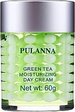 Düfte, Parfümerie und Kosmetik Feuchtigkeitsspendende und schützende Tagescreme für das Gesicht mit grünem Tee - Pulanna Green Tea Moisturizing Day Cream