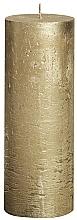 Düfte, Parfümerie und Kosmetik Dekorative Kerze in Zylinderform Metallic Gold 190/68 mm - Bolsius Candle