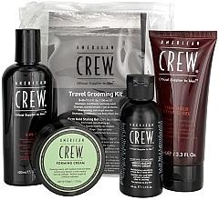 Düfte, Parfümerie und Kosmetik Haar- und Körperpflegeset - American Crew Travel Grooming Kit (Haargel Mittlerer Halt 100 ml + Haarcreme 50 g + Haar- und Körpershampoo 100 ml+ Rasiercreme 50 ml)