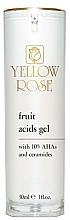 Düfte, Parfümerie und Kosmetik Gesichtsgel mit 10% AHA-Säuren und Ceramiden - Yellow Rose Fruit Acids Gel