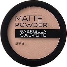 Düfte, Parfümerie und Kosmetik Mattierendes Puder - Gabriella Salvete Matte Powder SPF15