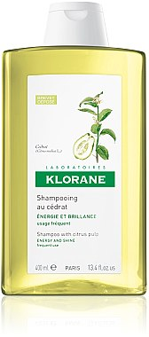 Energetisierendes Shampoo mit Zitrusfrüchten - Klorane Shampoo With Citrus Pulp — Bild N2