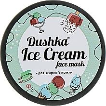 Düfte, Parfümerie und Kosmetik Gesichtsmaske für fettige Haut mit weißer Tonerde - Dushka Ice Cream Mask