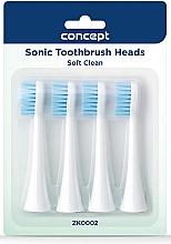 Düfte, Parfümerie und Kosmetik Erzatz-Zahnbürstenkopf für Schallzahnbürste ZK0002 - Concept Sonic Toothbrush Heads Soft Clean