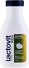 Düfte, Parfümerie und Kosmetik 3in1 Revitalisierendes Duschgel für Gesicht, Haar und Körper - Lactovit Men Active 3v1 Shower Gel