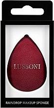 Düfte, Parfümerie und Kosmetik Schminkschwamm bordo - Lussoni Raindrop Makeup Sponge