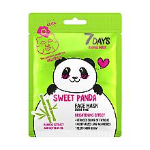 Düfte, Parfümerie und Kosmetik Aufhellende Gesichtsmaske mit Sojaöl und Bambusextrakt Süßer Panda - 7 Days Animal Sweet Panda