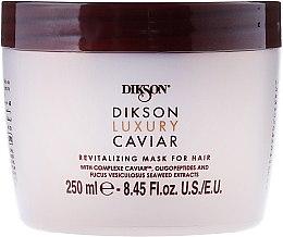Düfte, Parfümerie und Kosmetik Regenerierende Haarmaske mit Kaviar und Algen-Extrakt - Dikson Luxury Caviar Revitalizing Mask For Hair