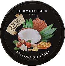 Düfte, Parfümerie und Kosmetik Zucker-Körperpeeling mit Sheabutter, Kokosnussöl und Vitamin E - DermoFuture Sugar Body Scrub