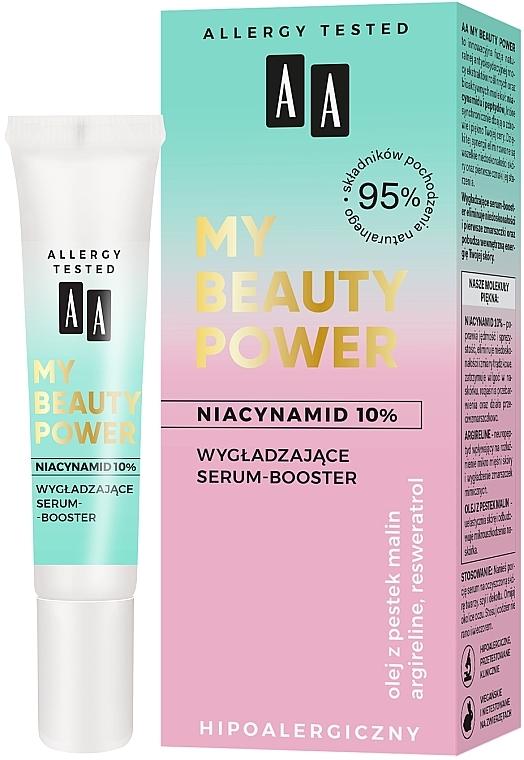 Glättender Serum-Booster für das Gesicht mit Niacinamid - AA My Beauty Power Niacinamide 10% Smoothing Serum-Booster