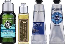 Düfte, Parfümerie und Kosmetik Körperpflegeset - L'Occitane Men Selection (Duschgel 50ml + After Shave Balsam 30ml + Handcreme 30ml + Shampoo 75ml + Kosmetiktasche)