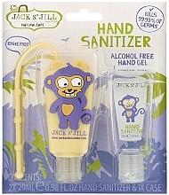 Düfte, Parfümerie und Kosmetik Antibakterielles Handpflegeset für Kinder - Jack N' Jill Hand Sanitizer Monkey (Hanreinigungsgel 2x29 ml + Hülle)