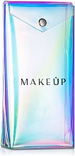 "Düfte, Parfümerie und Kosmetik Transparenter Pinsel Etui ""Holographic"" 20x10x4 cm - MakeUp"