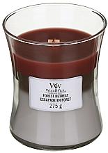 Düfte, Parfümerie und Kosmetik Duftkerze im Glas Forest Retreat - WoodWick Hourglass Trilogy Candle Forest Retreat