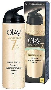 Feuchtigkeitsspendende Tagescreme SPF 15 - Olay Total Effects Day Cream Sensitive SPF15  — Bild N2