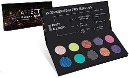 Düfte, Parfümerie und Kosmetik Gepresste Lidschatten in Palette - Affect Cosmetics Party All Night Eyeshadow Palette