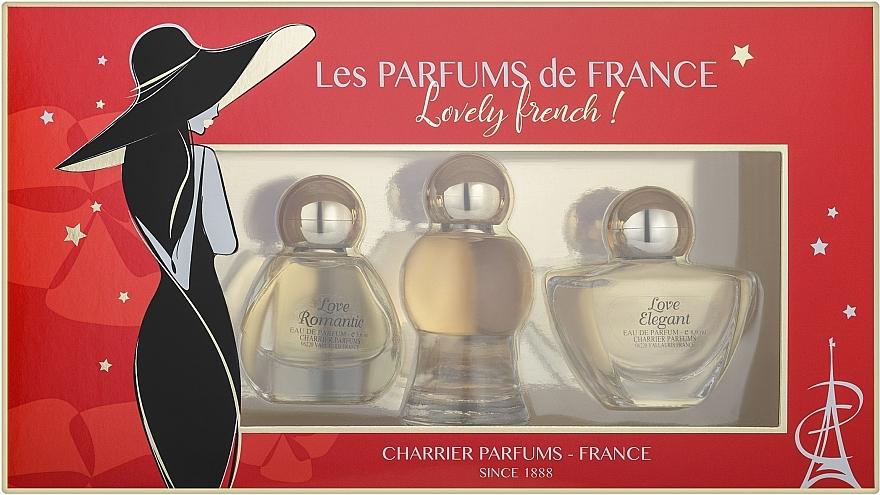 Charrier Parfums Lovely French - Duftset (Eau de Parfum 8.9ml + Eau de Parfum 10.5ml + Eau de Parfum 5.6ml)