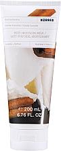 Düfte, Parfümerie und Kosmetik Körpermilch mit Vanille und Zimt - Korres Body Milk Vanila Cinnamon